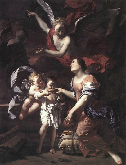 The Angel with Ishmael and Hagar